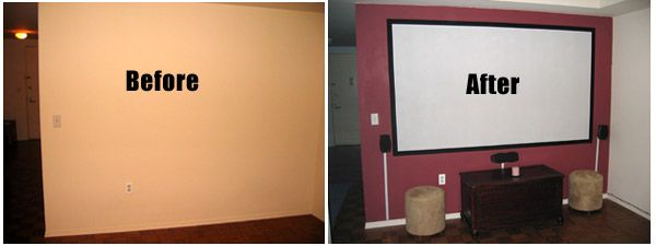 Diy Projector Screens Part I Paint Your Own Projection Screen Diy Projector Projector Screen Diy Projector Screen