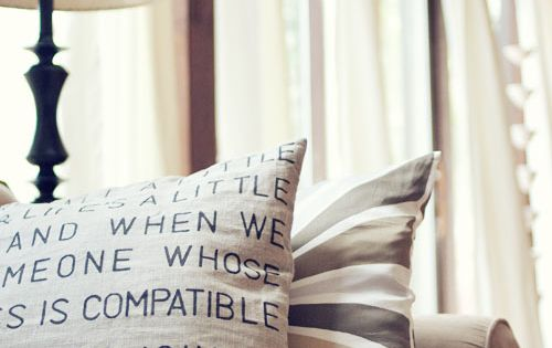 DIY pillow cover quote!