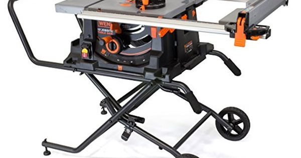 Wen 3720 15a Jobsite Table Saw With Rolling Stand 10 Table Saw Portable Table Saw Table Saw For Best Table Saw Jobsite Table Saw Best Portable Table Saw