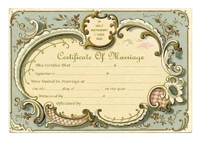 Keepsake Marriage Certificate Vintage French Frame Free Printable Wedding Certificate Marriage Certificate Marriage