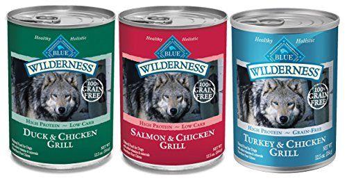 Blue Buffalo Wilderness Grain Free Wet Adult Dog Food Variety Pack