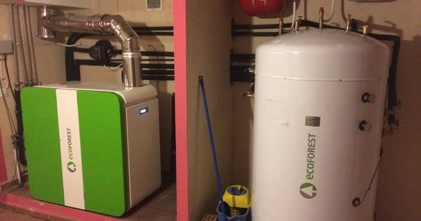 Sistema de calefacci n con caldera de pellets ecoforest for Caldera de pellets para radiadores