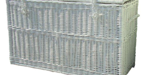 Biala Skrzynia Wiklinowa Outdoor Storage Outdoor Storage Box Storage Box