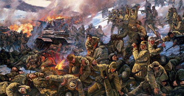 PLA charge against US troops in Korea | Korean War Art ...