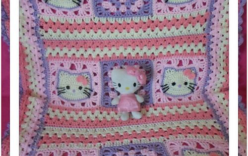 Crochet Pattern For Hello Kitty Baby Blanket : FREE CROCHET PATTERN @ Ravelry: Hello Kitty Baby Blanket ...