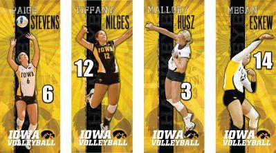 University Of Iowa Volleyball Senior Banners Senior Banner Senior Volleyball Banner Volleyball Senior Night