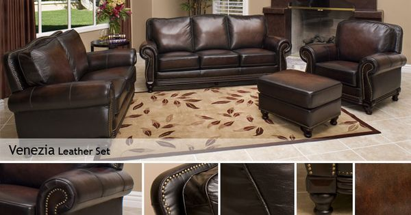 Venezia Leather Set Living Room Pinterest Costco Living Room Sets And Room Set