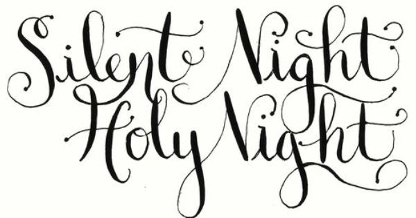 Christmas card ideas calligraphy handlettered