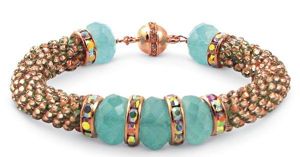 Robin s egg bead crochet bracelet kit cross stitch