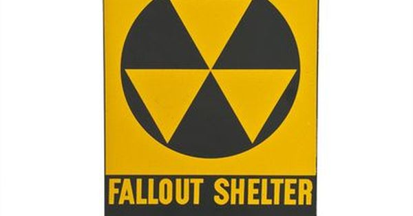 Vintage 1950 S New Old Stock Fallout Shelter Sign Fallout Shelter Sign Fallout Shelter Advertising Signs