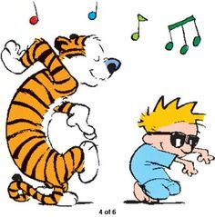 Calvin And Hobbes Happy Dance Calvin And Hobbes Comics Calvin And Hobbes Calvin And Hobbes Tattoo
