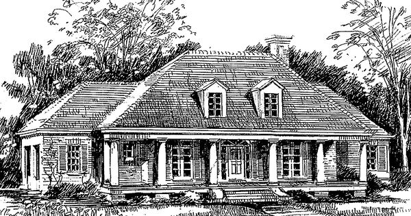 Eplans Southern House Plan Rustic Oaks From The Southern