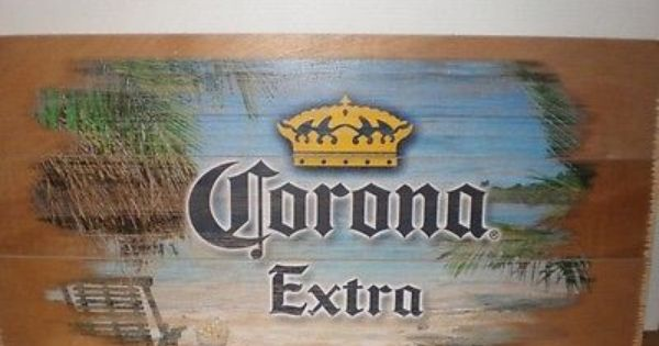 corona extra beer wood sign   man cave garage bar