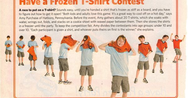 Summer Games Frozen T Shirt Contest For August 5th
