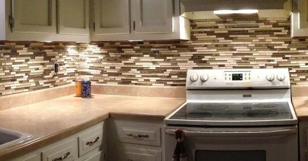 Mosaic Tile Backsplash From Costco Home Improvement