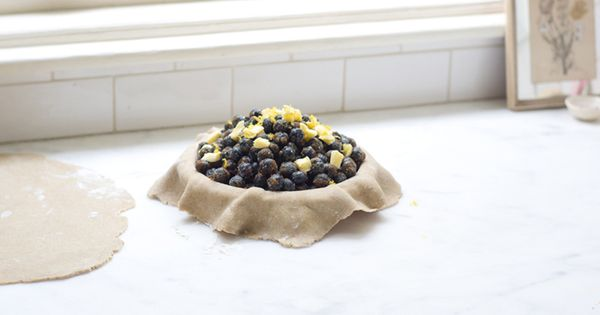Just in time for blueberry season. Blueberry Lemon Verbena pie. Can't wait