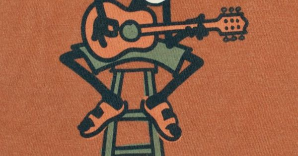 graphic t shirt life is good jake playing guitar acoustic
