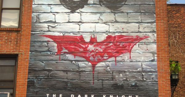 Batman dark knight graffiti mural by the zoom crew joker for Dark knight mural