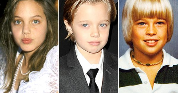 Can T Decide Does Shiloh Jolie Pitt Look More Like Young Angie Or Brad Shiloh Jolie Jolie Pitt Brad Pitt And Angelina Jolie