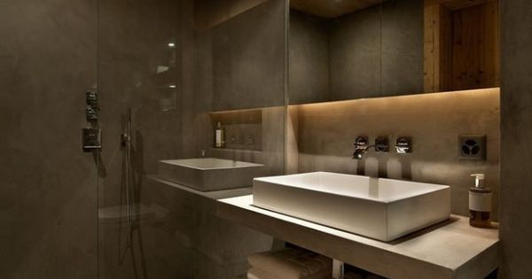 kleines badezimmer begehbare dusche glaswand badspiegel indirekte beleuchtung lana pinterest. Black Bedroom Furniture Sets. Home Design Ideas
