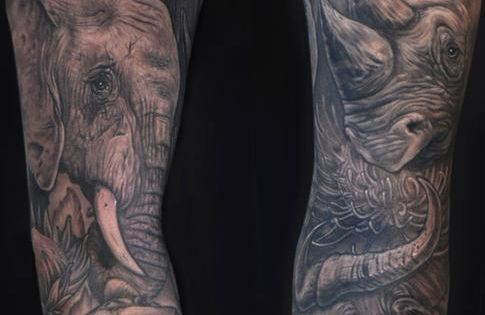 Africa's Big 5 Tattoo Sleeve | Tattoo | Pinterest ...