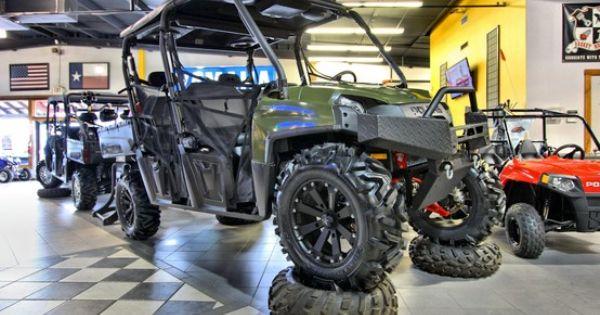 Honda 4 Wheelers Dallas >> 2013 Polaris Ranger Crew - Wheels and tires from Colorado Components - Audio formz lighted ...