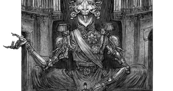 Character Design Techniques Keith Thompson : Behemoth the sultan s automaton illustrated by keith