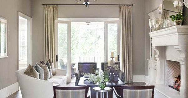 Taupe Living Room Dark Floors Off White Furniture