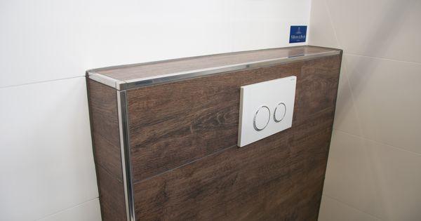 schl ter system quadec edelstahl schiene in kombination mit fliesen in holzoptik und. Black Bedroom Furniture Sets. Home Design Ideas