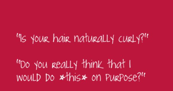 Curly Hair Problems... Story of my life