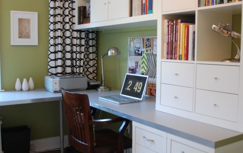 built-in desk with overhead cabinets for kids study area | Parenting | Pinterest | Homework ...