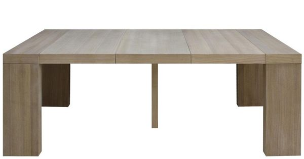Table console extensible woodini xl ch ne naturel 713 Table extensible 12 personnes