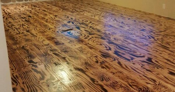 Hubby N I Made These Floors Out Of Plywood N A Torch