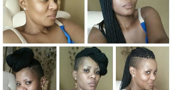 Side shave with twists | Never been my hair | Pinterest ...