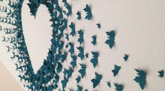 Schmetterlinge aus papier schneiden falten und du hast for Bastelideen fa r erwachsene papier