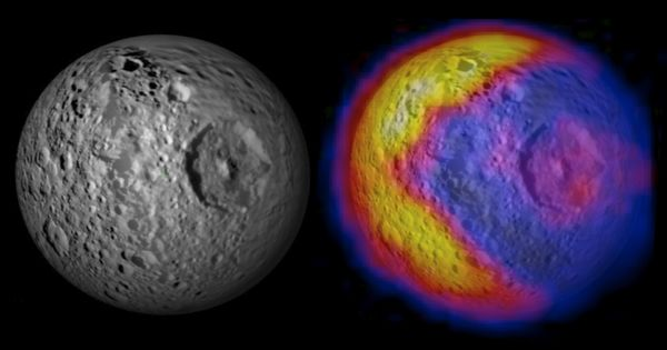 Saturn's moon Mimas looks like the Star Wars Death Star -- and