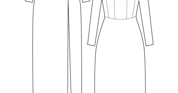 Roxy dress - Boat neck maxi dress. flat drawing by Ralph ...