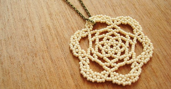 How To Make A Beaded Lace Medallion - excellent photo tutorial, easier