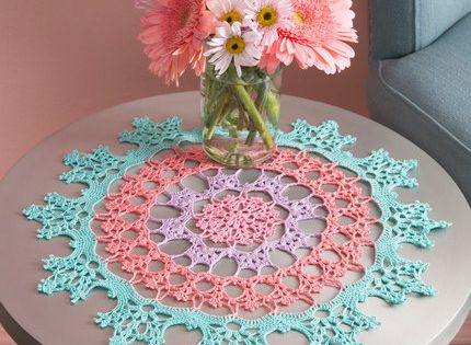 Wisteria Doily Free Crochet Pattern from Aunt Lydia's ...