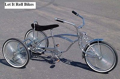 NEW TRICYCLE 3-WHEELER  BOLTS  LOWRIDER CRUISER BIKES