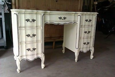 Vintage French Provincial Desk By Dixie Furniture