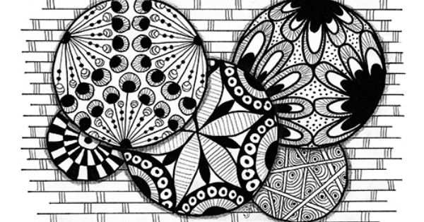 Adult Coloring Page. Fun Circles And Geometric Patterns To