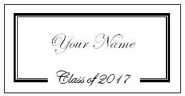 How To Make Graduation Name Cards It S Really Not That Hard Just Follow The Steps Below High School Graduation Cards Diy Name Cards Name Cards