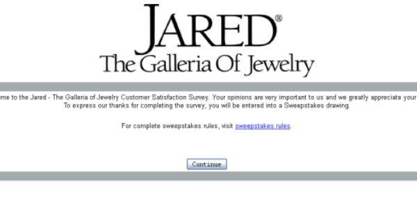 Jared Jewelry Customer Survey surveyjaredcom Customer Survey