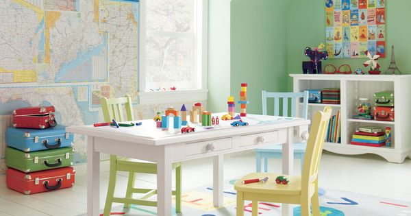 Add educational elements to the decorations in your kiddo's room or playroom.