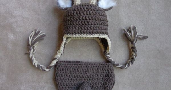 Free Crochet Deer Diaper Cover Pattern : Newborn Crochet Deer Crochet Hat and Diaper Cover- Newborn ...