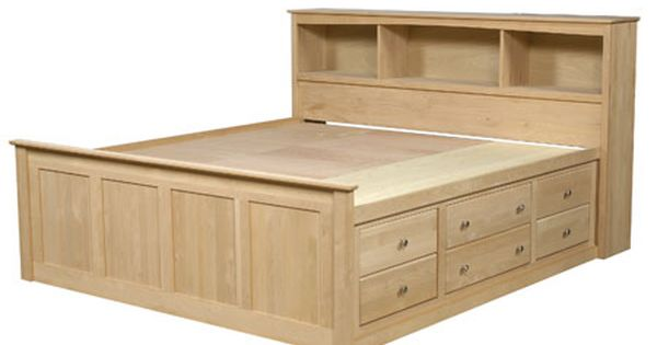 Storage Beds Sam 39 S Wood Furniture Bed Frame With Storage