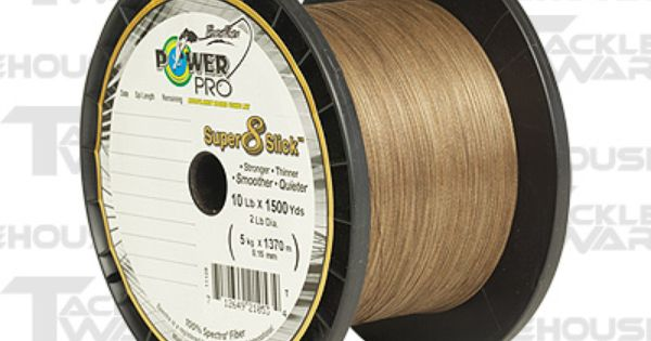 Power pro super slick braided line timber brown 20 bass for Bass pro fishing line