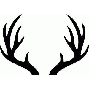 Silhouette Design Store Deer Antlers Deer Antlers Silhouette Design Antler Drawing