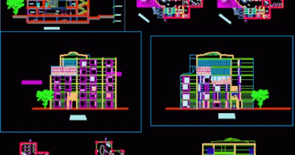 Centre commercial Plans architectural Architecture Coupe and